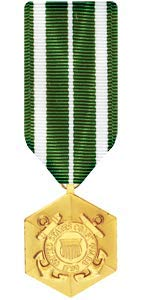 Medals of America Coast Guard Commendation Medal Miniature Anodized