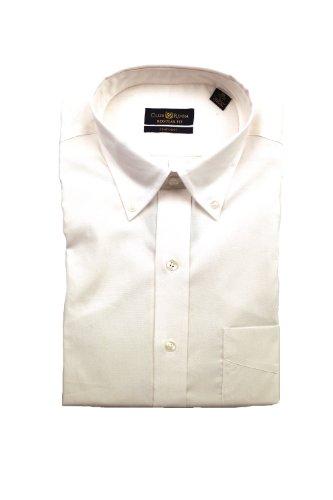 Club Room Men's Button Down Oxford Shirt White 16 32-33 ()
