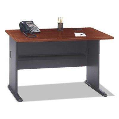 Bush Business Furniture Series A 48W Desk in Hansen Cherry and Galaxy from Bush Business Furniture