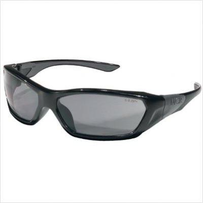 MCRFF122 - Forceflex Safety Glasses, Black Frame, Gray Lens