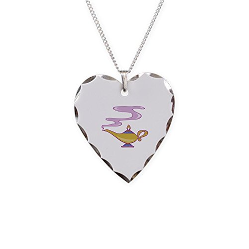 CafePress - Magic Lamp Necklace - Charm Necklace with Heart Pendant