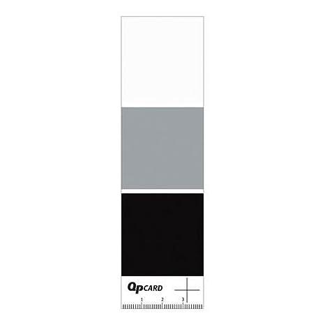 Adorama qpcard 101, 3 tarjetas con negro/gris/colores blanco ...