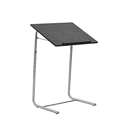 Portable Laptop Desk   Lightweight Folding Breakfast in Bed TV Dinner Tray   Over Bed Side Hospital Table   Tilt Adjustable Surface with Book/e-Device Edge Stopper