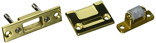 Baldwin 0430030 Roller Latch, Bright Brass