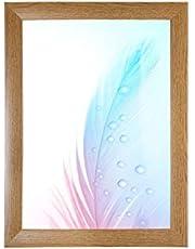 DR24 fotolijst 50x150 (Eik rustiek) op maat gemaakt, 35 mm brede MDF-houten frame inclusief anti-reflecterende kunstglas ruit, stabiele achterwand, buigpennen en hangers