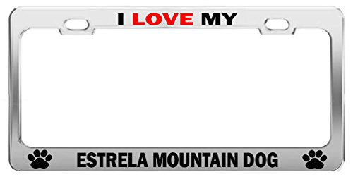 i-love-my-estrela-mountain-dog-license-plate-frame-auto-accessories
