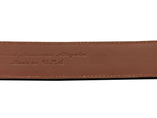 El Presidente - Men's Black Genuine Alligator Belly Skin Leather Western Cowboy Belt 44 by El Presidente (Image #5)