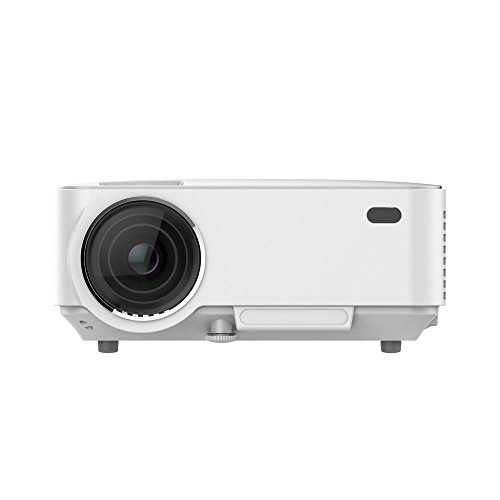 Review Of Mini LED Projector ,Geeki LW-20 Portable Multimedia 1500 Lumens Projector with VGA USB SD ...