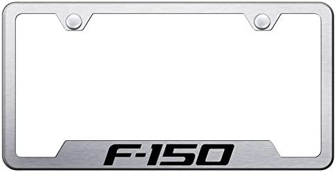 Automotive Gold Laser Etched Brushed F-150 Cut-Out Frame