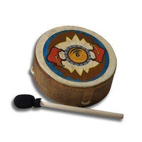 REMO Drum, Buffalo, 10'' Diameter, 3.5'' Depth, 'Sun Buffalo' Graphics by Remo