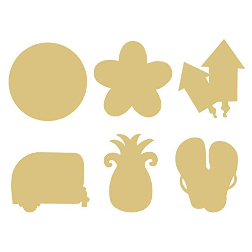 Celebration Class Interchangeable Cutouts Unfinished Wood Home Decor Holiday Door Hanger MDF Shape Canvas Style 2 (6