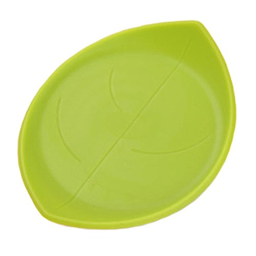 4PCS Antislip Cup Mats Coasters Drinks Holder Placemats Table Decor, Green Leaf