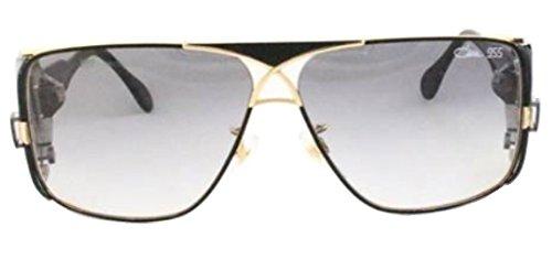 Cazal CZ 955 Sunglasses 302 Black w/Gold Trim 63MM (Cazal Shop)