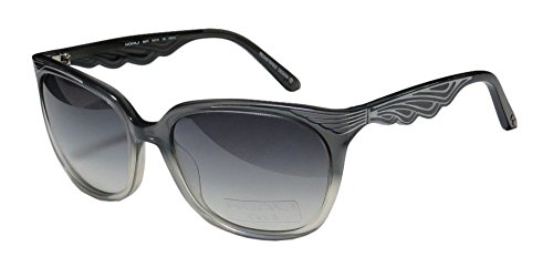 Koali 6967k Women's Cat Eye Full-Rim Gradient Lenses Sunglasses/Shades, Transparent Gray/Clear - Clear Amazon Sunglasses