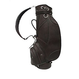Leather Deluxe Golf Bag - Piel Leather Deluxe 9in Golf Bag CHC, Chocolate