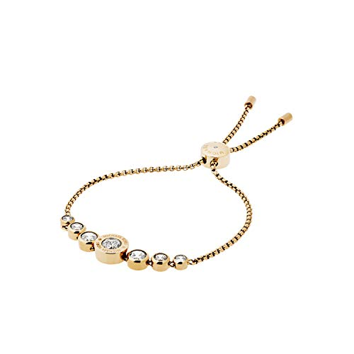 Michael Kors Logo Gold-Tone and Jet Set Crystal Slider Bangle Bracelet