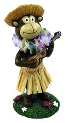 "KC Hawaii Hula Monkey Mini Dashboard Doll 4.25"""