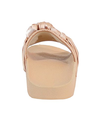 By Shoes Claquette Style Lolita - Femme Champagne DN4Qm