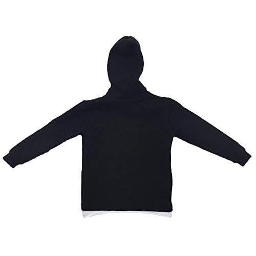 Flameer 1/6 Scale Black Hoodies for 12 inch Male TV Movie Anime Character Action Figures -