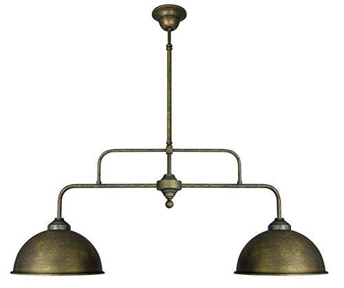 Lámpara de techo lámpara de techo doble de latón bruñido ...