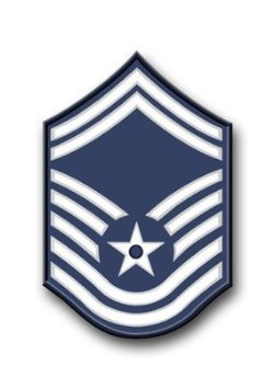 US Air Force Senior Master Sergeant (No Diamond) Decal Sticker 5.5