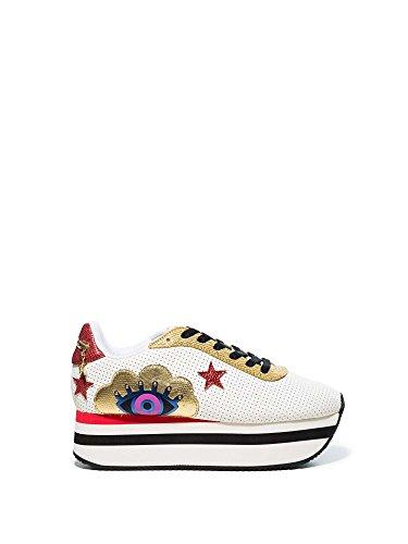 Desigual 18SSKP25 Zapatos Mujeres Weiß
