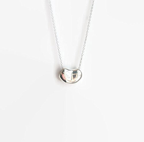 044edf3befab Image Unavailable. Image not available for. Color  Silver bean necklace -  sterling ...