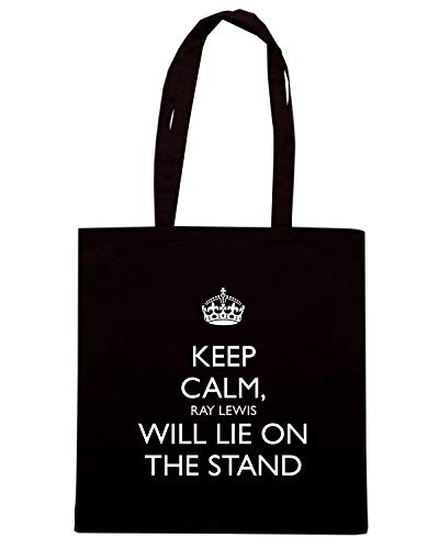 Borsa Shopper Nera TKC3038 KEEP CALM RAY LEWIS WILL LIE ON THE STAND