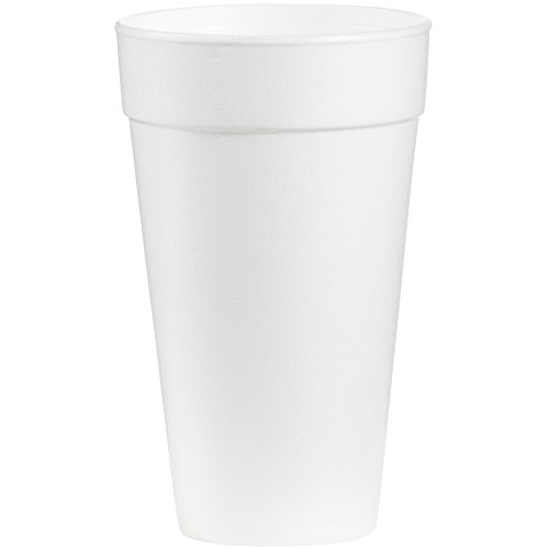 Dart 20J16 Foam Drink Cups, 20oz (Case of 500) Dart Dart Foam Cup