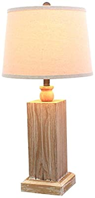 Teton Home TL-003 Wooden Table Lamp