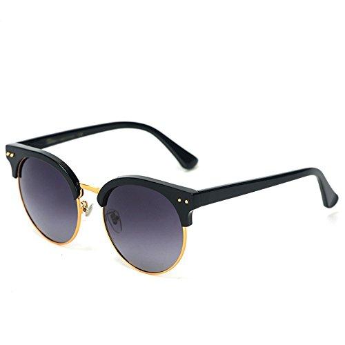 de plat de masculines lunettes de Noir 6 soleil et soleil de cadre Mercure Shop couleur de Cadre de À de cadre Lunettes demi soleil Les de Film lunettes féminines WPnvcER