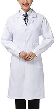 THEE White Long Sleeve Health Nurse Medical Laboratory Lab Coat Unisex