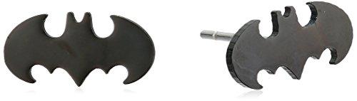 DC Comics Unisex Batman Cut Stainless Steel Stud - Dc Earrings