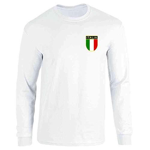 Italia Jersey T-shirt - Italy Soccer Retro National Team White L Long Sleeve T-Shirt