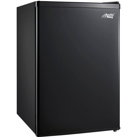 Arctic King 2.6 cu ft 1-Door Compact Refrigerator | Adjustable Legs for Leveling, Black