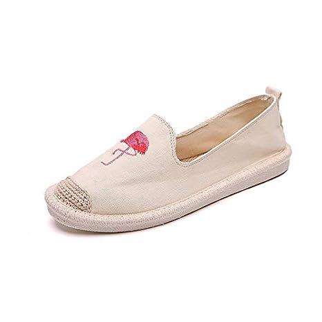 ZHRUI Zapatos con Estampado Animal Zapatos Planos de Lona