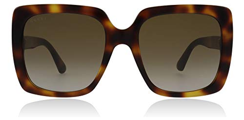 Gucci GG0418S 003 Havana GG0418S Square Sunglasses Lens Category 2 Size 54mm ()