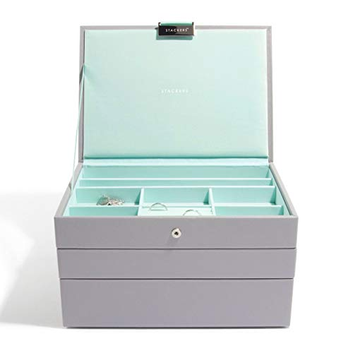 Stackers Dove Gray Classic Jewelry Box - Set of - Set Stackers
