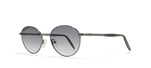 Burberrys B8842 5TD Silver Flat Lens Vintage Sunglasses Round For Mens and - Sunglasses Burberry Vintage
