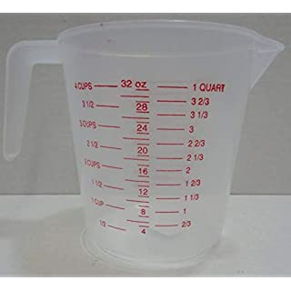 AMZVASO - Cost-effective Durable MEASURING JUG 1 LITRE 1L PLASTIC KITCHEN FOR OZ PINT QUARTZ CUPS