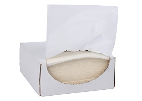 White Parchment Paper Squares, Release Coated, 4.5 in. x 4.5 in., (1000 sheets) in plain white recyclable dispenser box by Mr. Bates Paper Company