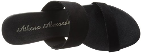 Sandal Suede Alexander Athena Black Women's Sparkler Wedge pWI7qP4w