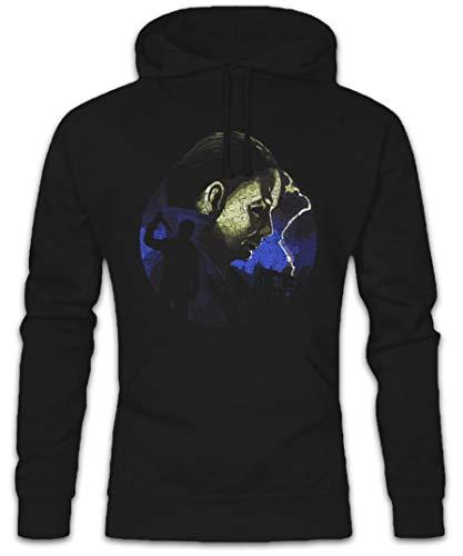 Urban Backwoods Myers Lightning Hoodie Hooded Sweatshirt Sweater Black ()