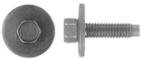 25 6 - 1.00 X 22mm Metric Dog Point Body Bolts 8mm Hex (Body Bolt Washer Head)