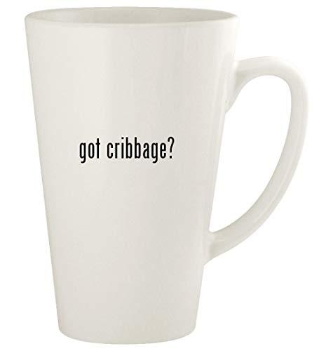 got cribbage? - 17oz Ceramic Latte Coffee Mug Cup, White