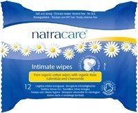 Natracare Organic Cotton Intimate Wipes (12 Wipes) by Natracare (Natracare Feminine Wipes)