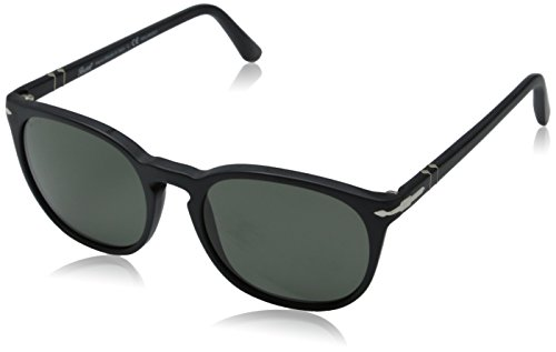 Persol Men's 0PO3007S Matte Black/Polar Green - Matte Black Persol Sunglasses