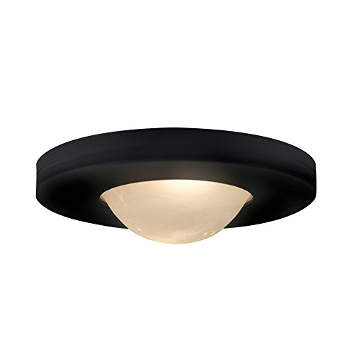 Edged Slim Disk - JESCO Lighting PK503BK Straight-edged Slim Disk with Frosted Glass Lens