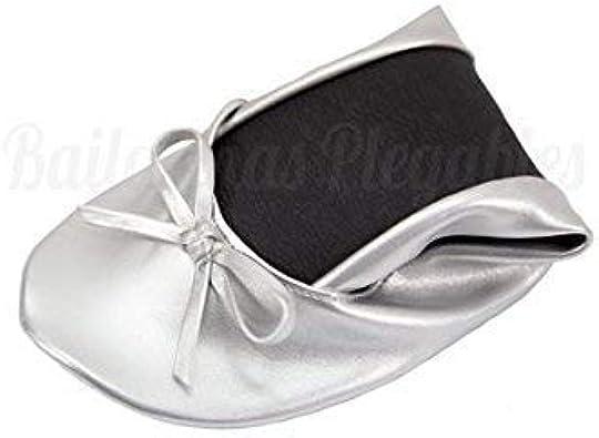 Pack de 10 Bailarinas de Boda, Mujer, Color Plata M:equivale 36,37,38 EU, Bolsa de Organza incluida: Amazon.es: Zapatos y complementos