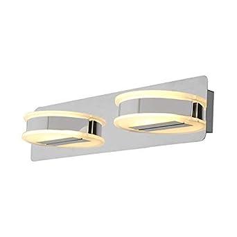 "ZOCKUP""10 WATT"" Round Shape Warm White Bathroom | Mirror Light (S.S. Finish, 3 Years Warranty) Fixtures at amazon"